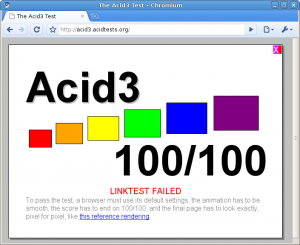 Résultat du test Acid3 de Chromium