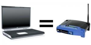 Laptop égal routeur