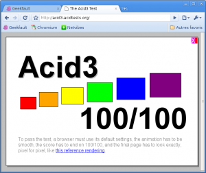 Chromium : Test Acid3
