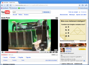 YouTube dans Chromium