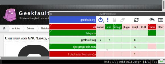 Geekfault sur uMatrix